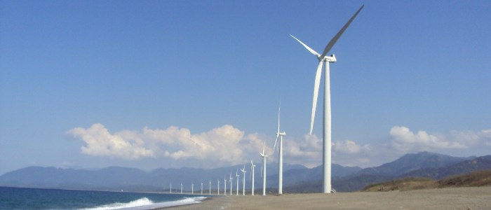 Wind farm in The Philippines