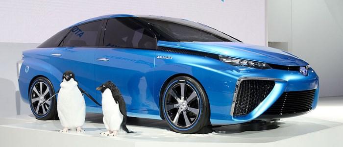 A Japanese hydrogen concept car