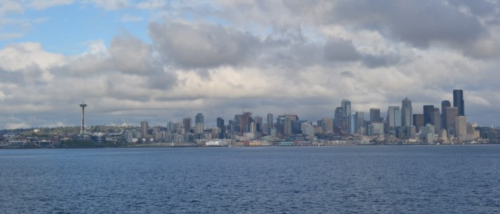 Seattle from the boat - blog