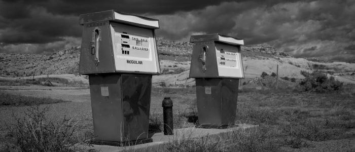Abandoned oil pumps
